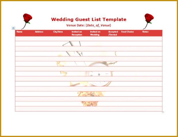 wedding guest list template 478618