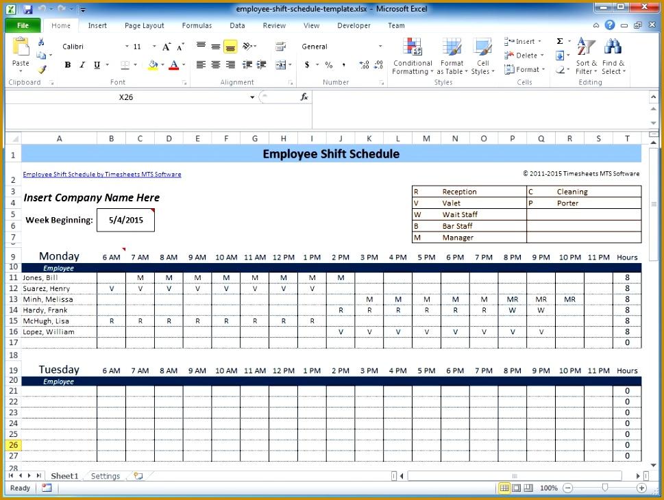 shift scheduler excel 730969