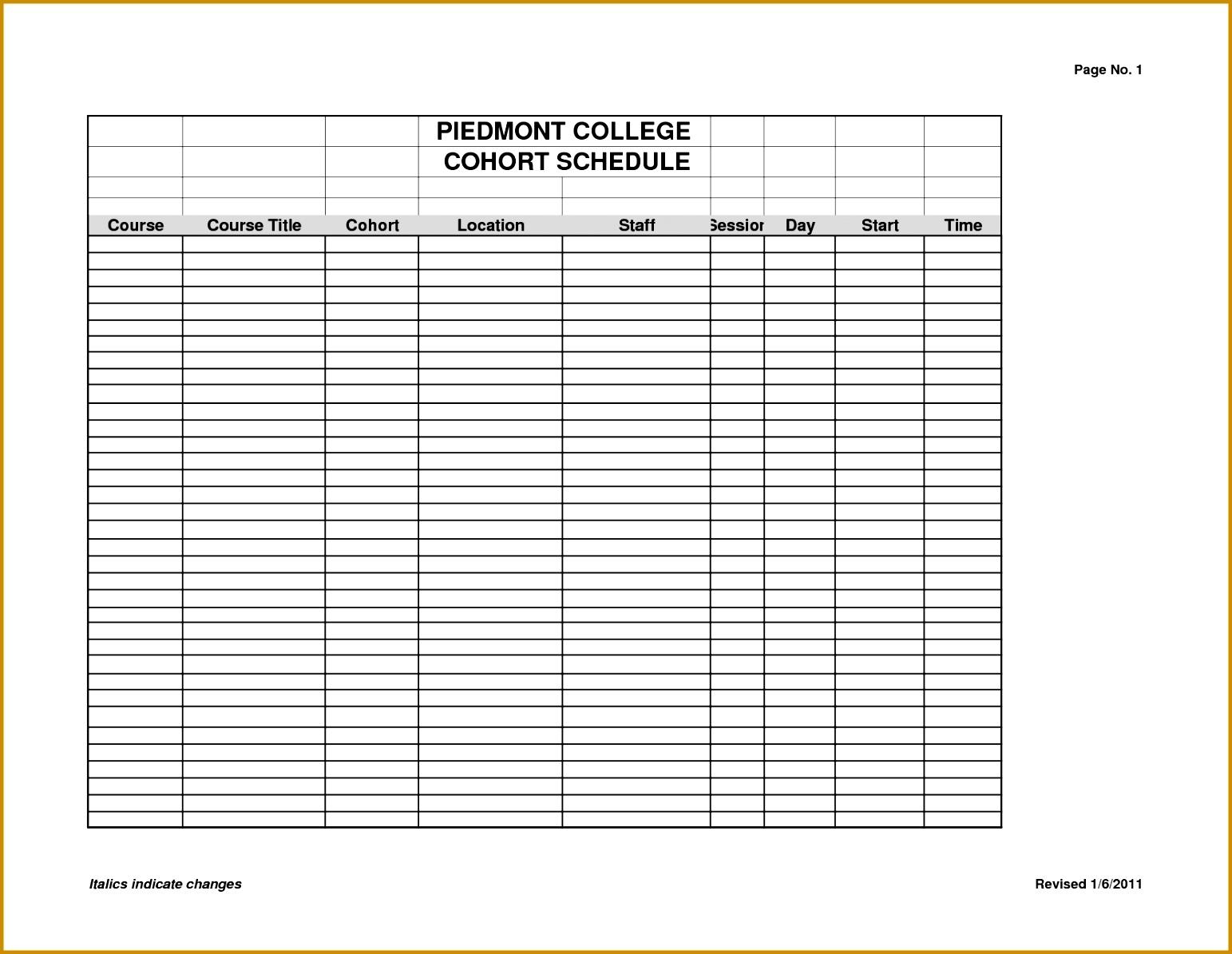 7 Weekly Class Schedule Template Fabtemplatez