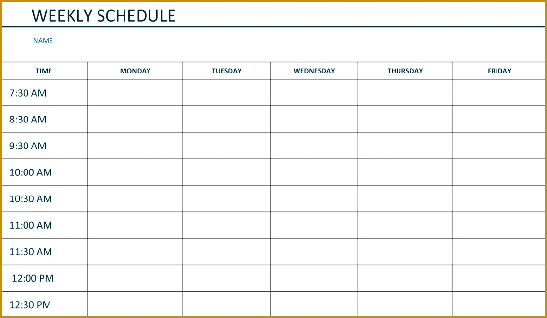 student schedule template 6491116