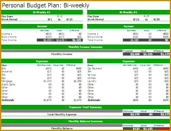 2nd Bi Weekly Bud Planner 442578