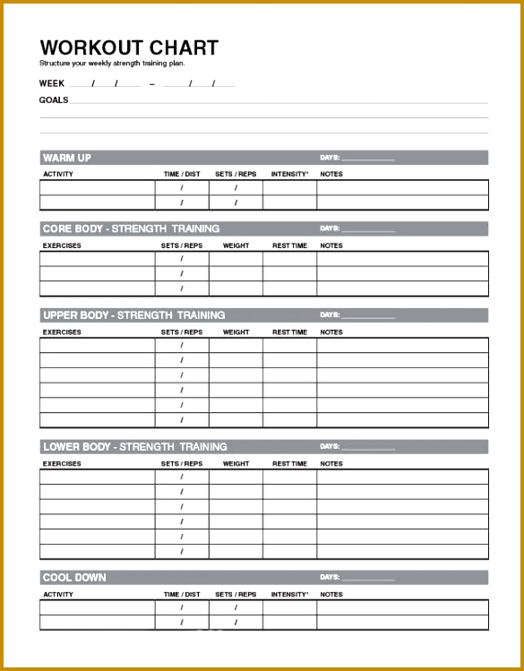Exercise Chart Templates Free Printable Exercise Log And Blank Exercise Log Template Best 25 Workout Template Ideas ly Pinterest 749585