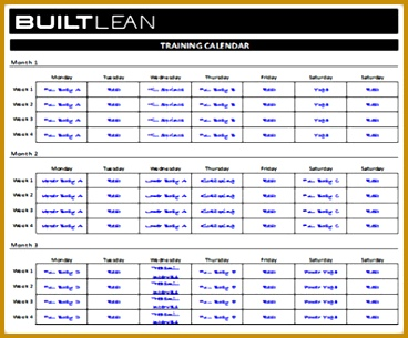 weekly exercise plan template 305368
