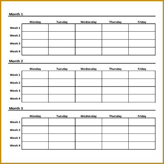Sample Workout Chart 7 Documents In Pdf 539539