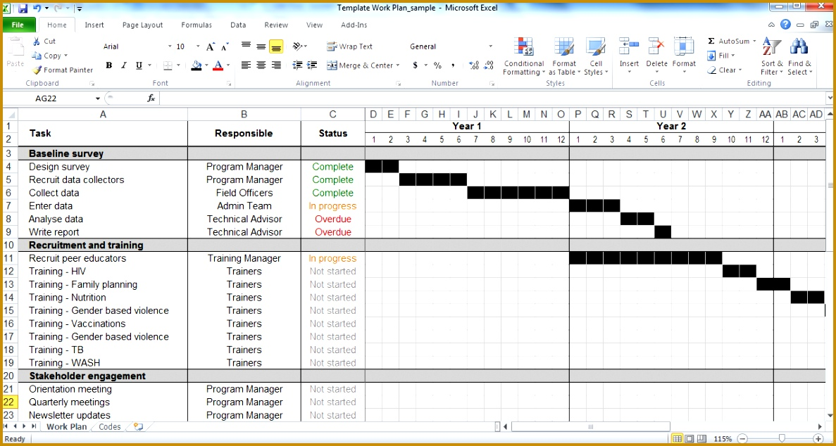 excel planner template 6341187