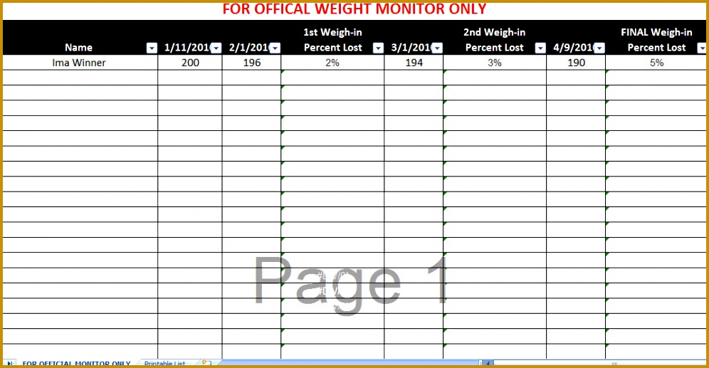 biggest loser spreadsheet 996517