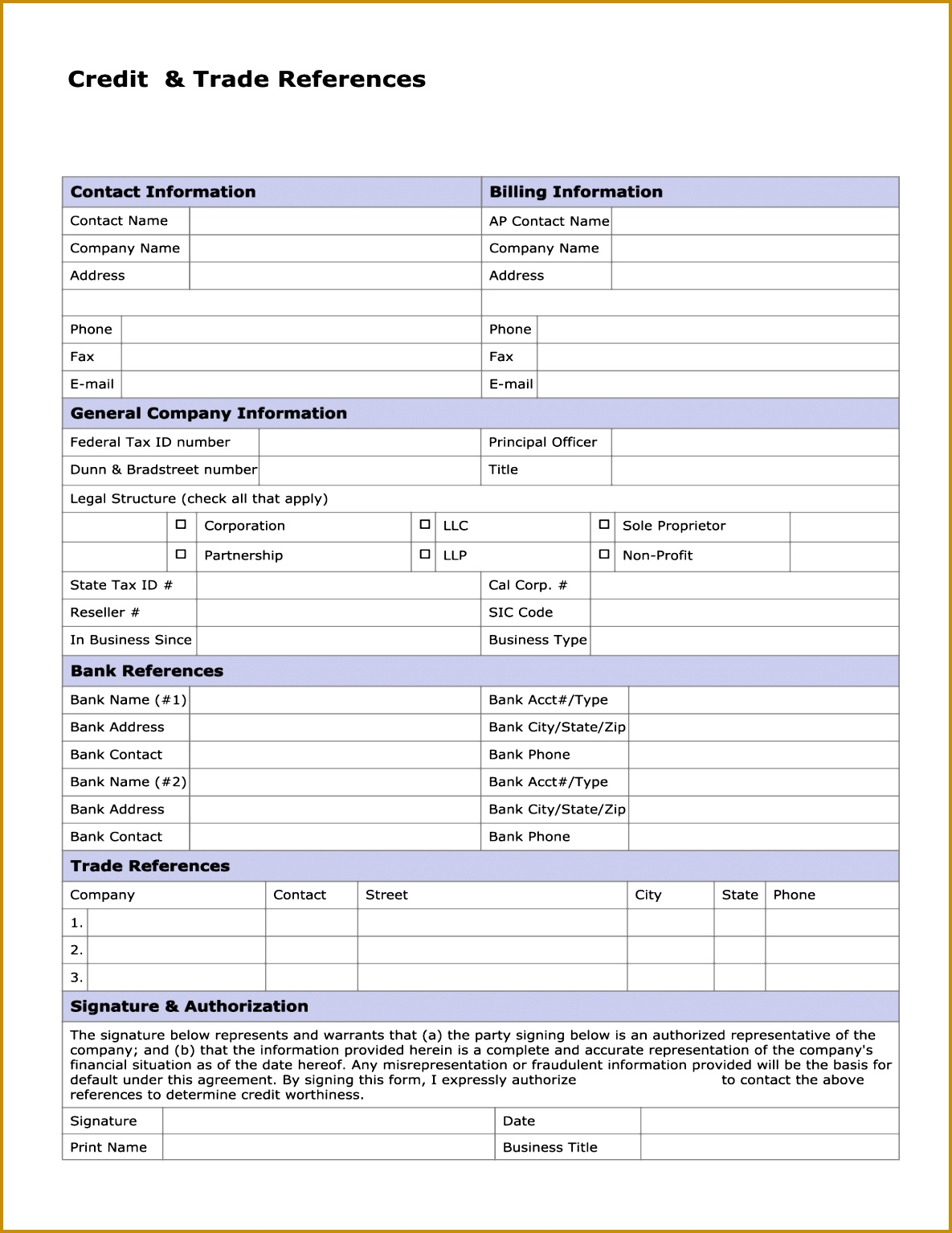 fantastic trade reference form template ensign resume ideas