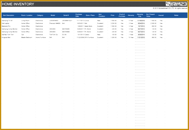 excel inventory template 448651