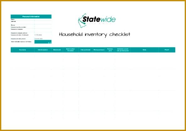household inventory checklist 419593