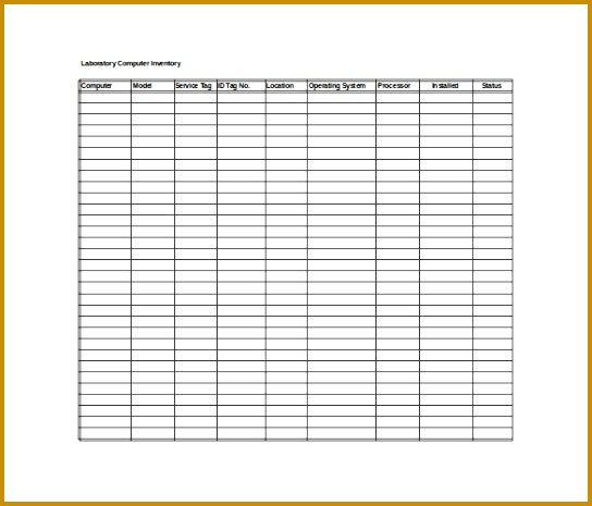 document inventory template 465544