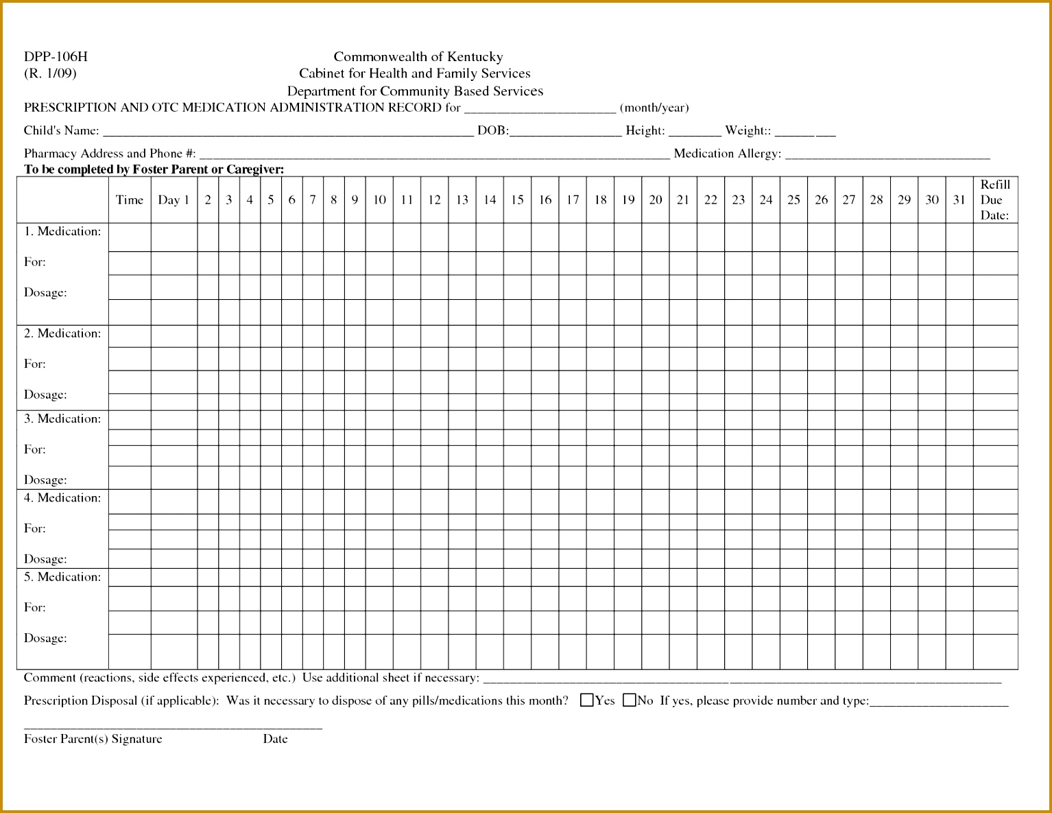 post printable medication administration record template 11851534
