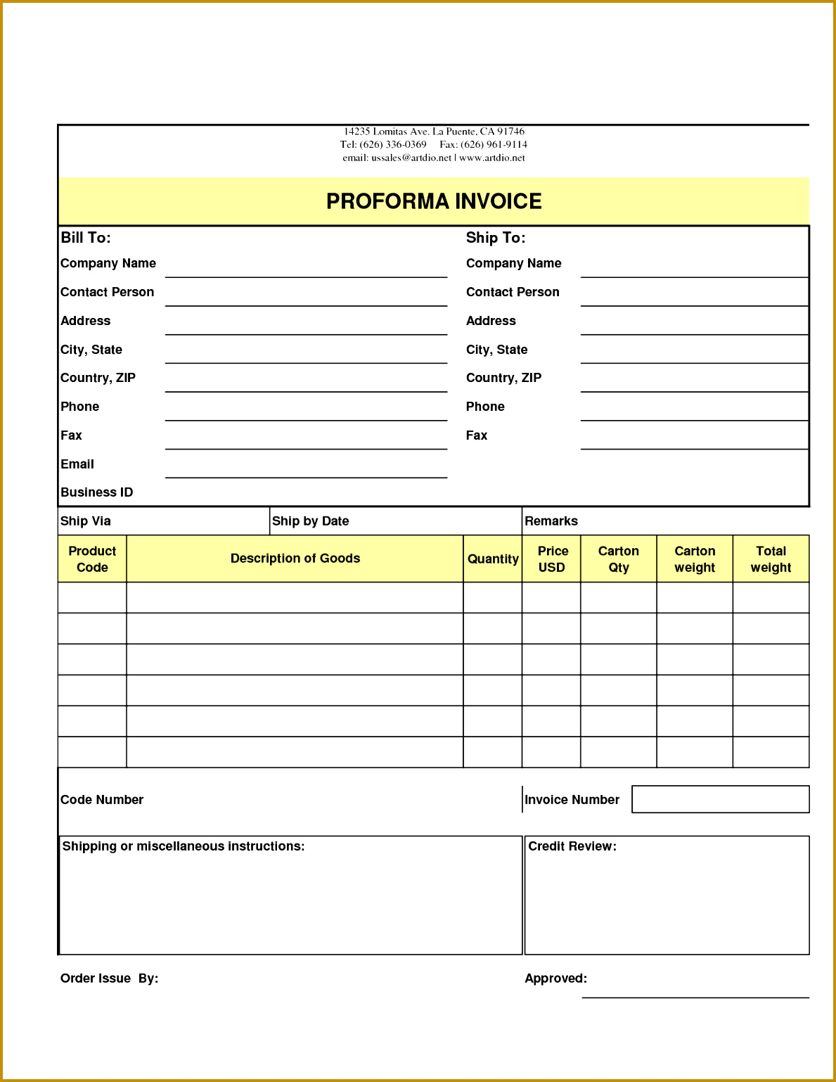 5 order form template excel 15381189