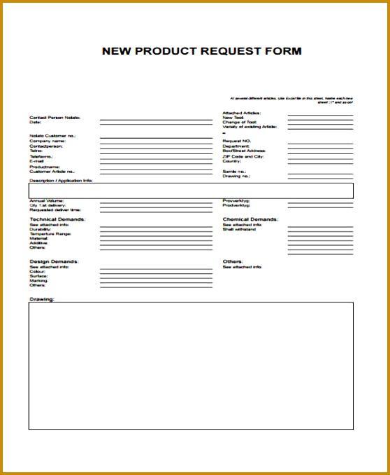 request sample form 678558