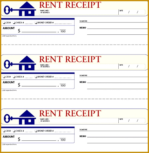 printable rent receipt template 496511