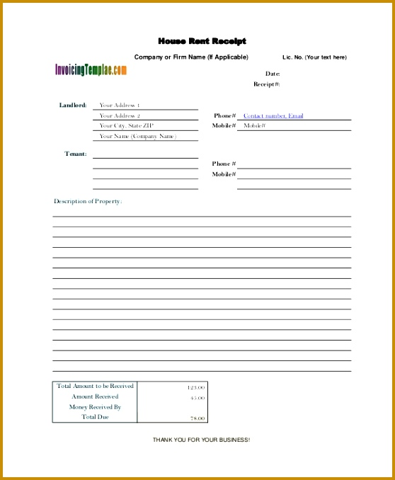 e6910add0d rent receipt template word dfb172 678558