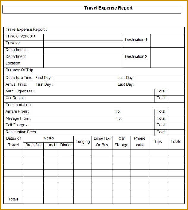 expense report template 704632