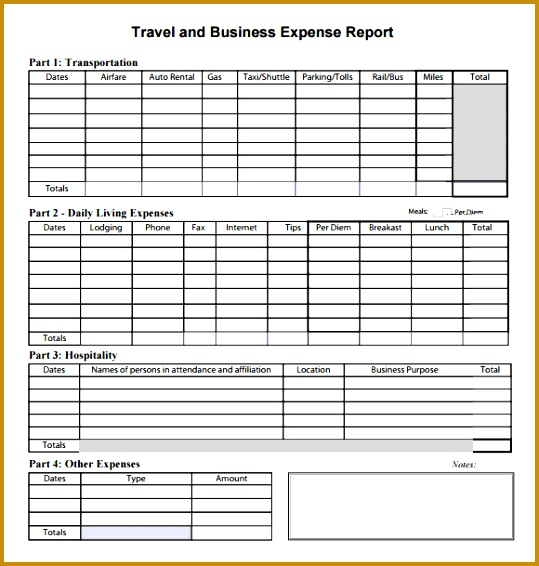 sample expense report 566539