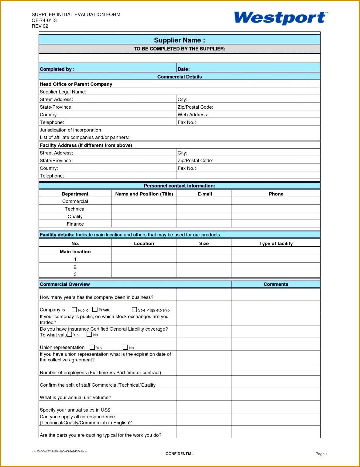 4 vendor assessment template fabtemplatez