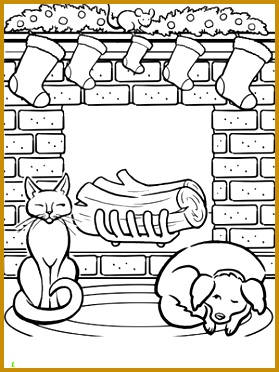 First Grade Holidays & Seasons Worksheets Christmas Fireplace Coloring Page 372279