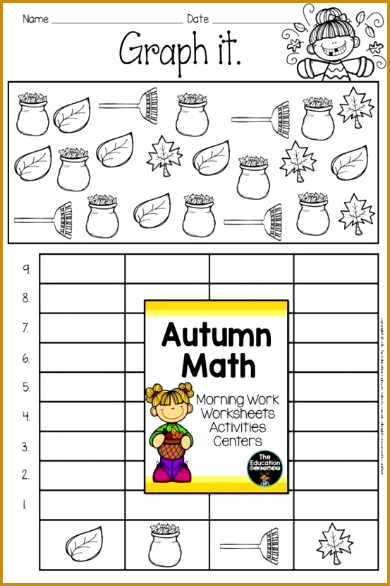Fall Math Worksheets First Grade Math And English Language Arts Daily Morning Work Worksheets 6th 830553