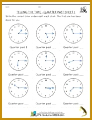 4th Grade Math Printable Worksheets 39283 2nd Grade Math Practice Telling the Time Quarter Past 1