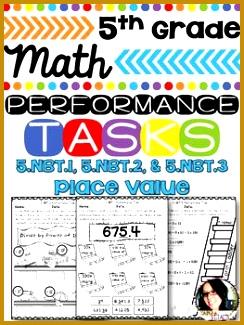 5th Grade Math Printables 5 NBT 1 5 NBT 2 5 NBT 3 Numbers & Operations 244325