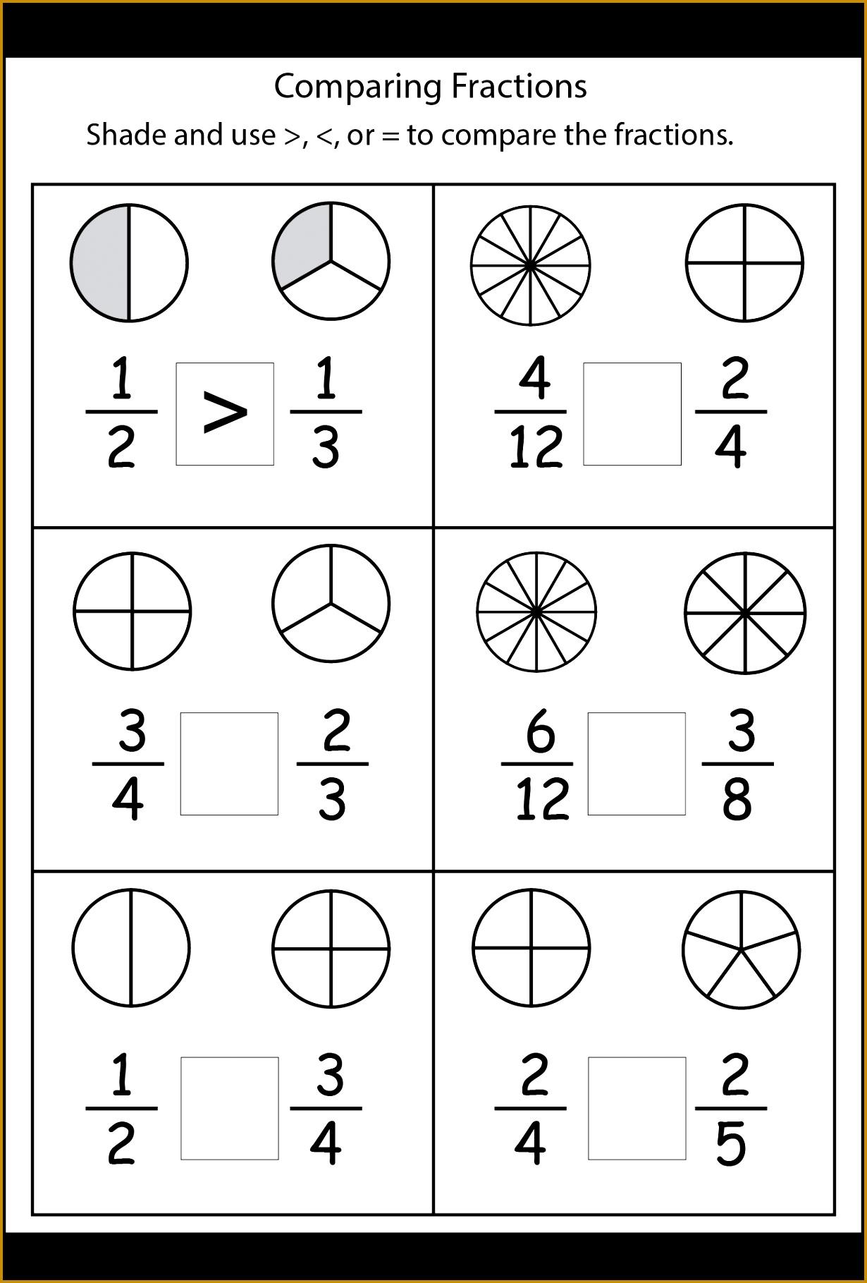 paring fractions worksheets grade math school make pictures blank shapes for older remediation 12301819