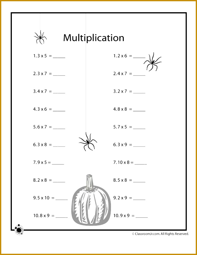 Free Halloween math worksheets for kids suitable for grade grade and grade students 818632