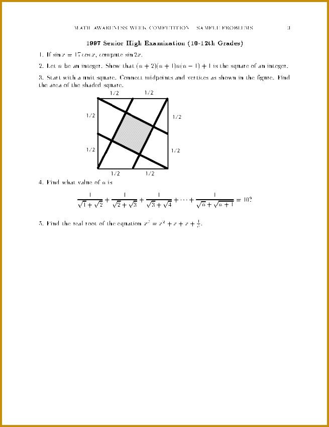 Sample Problems Department Mathematics 849655