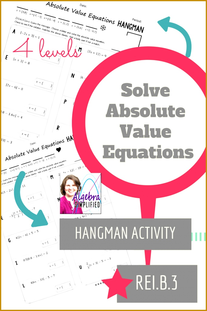 Absolute Value Equations Hangman 1024683
