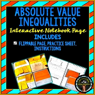 Absolute Value Inequalities Notebook Page Interactive Notebooks are a new way to share information with 325325