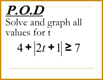 2 5 Solving Absolute Value Sentences Graphically 255331