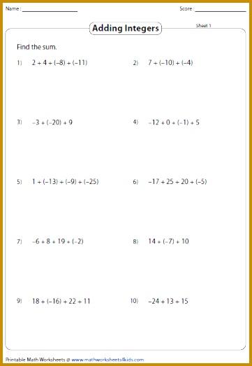 Interesting Zero Pairs Worksheets In Adding And Subtracting Integers Worksheets of Zero Pairs Worksheets 361523