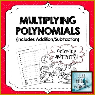 Multiplying Polynomials FOIL Coloring Activity 325325