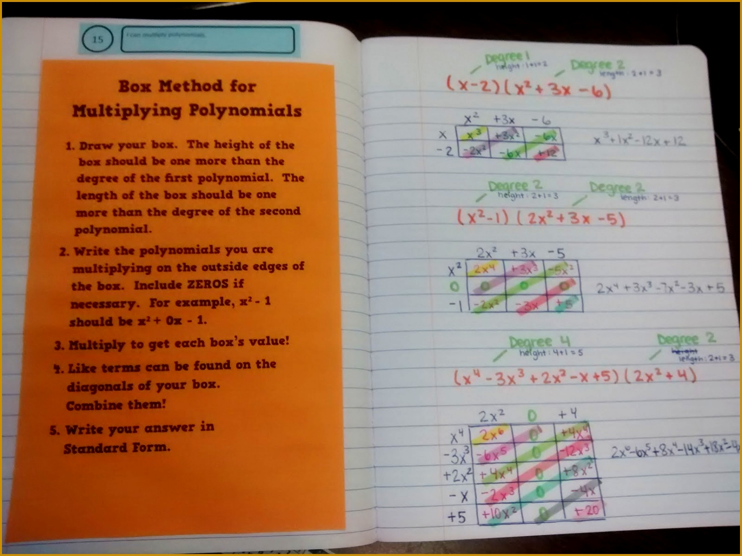 Multiplying Polynomials Using the Box Method 11161488