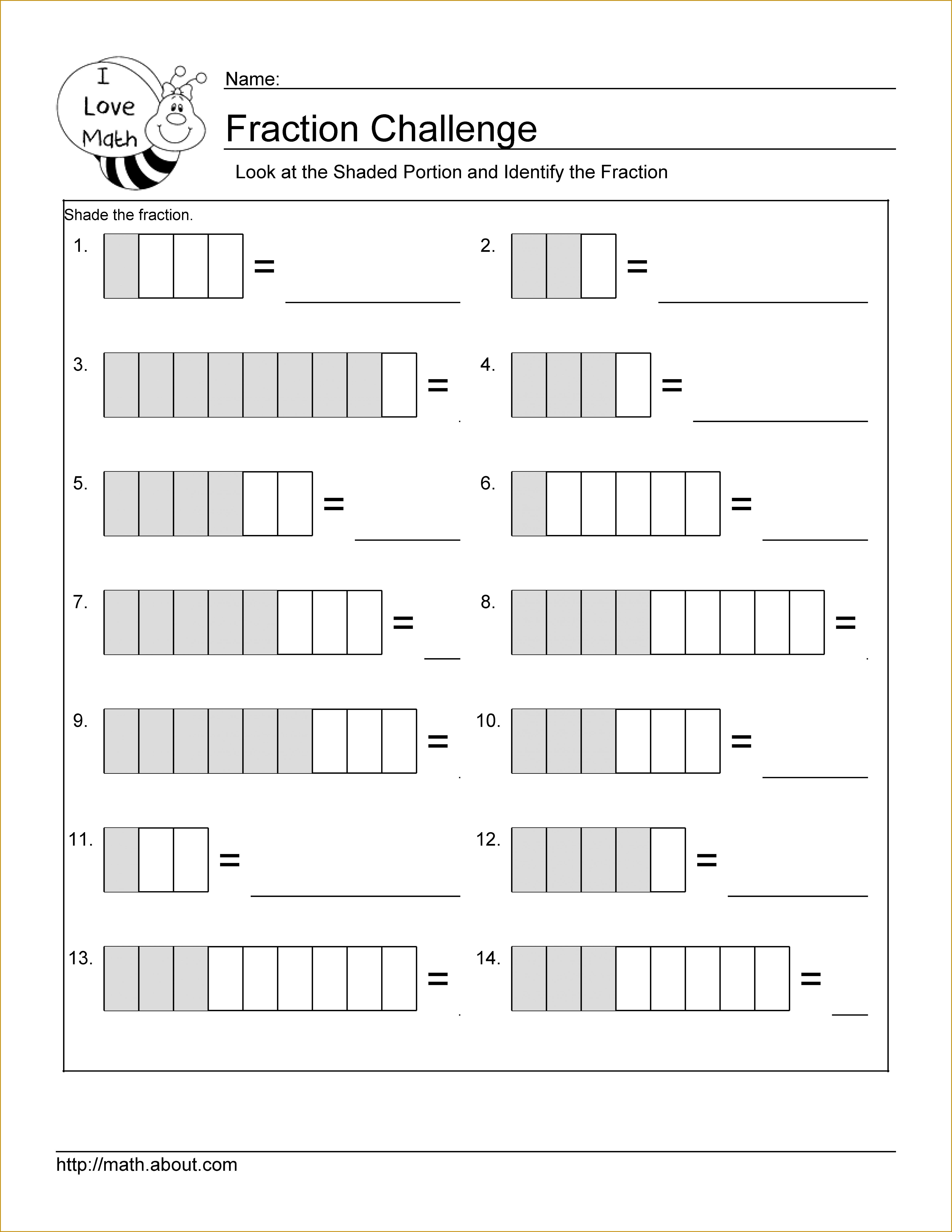 Fraction Worksheets 47436138