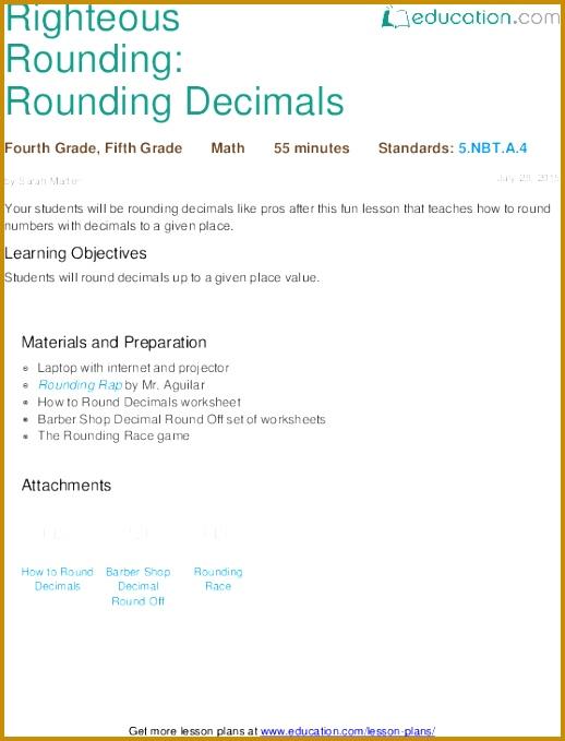 Righteous Rounding Rounding Decimals 679518