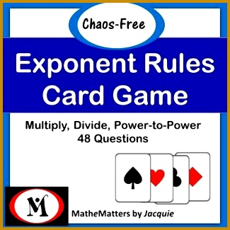 Exponent Rules Power Rules Activity 48 Questions EDITABLE 8 EE A 1 325325