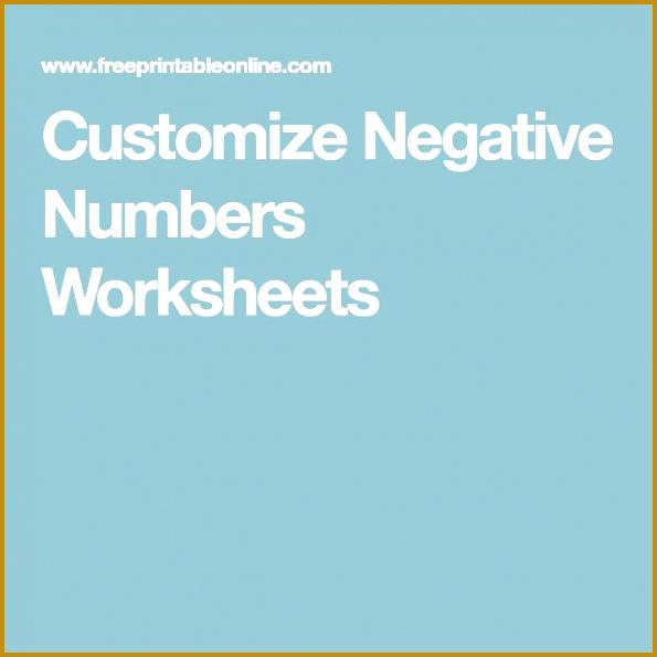 Best 25 Negative numbers worksheet ideas on Pinterest 595595