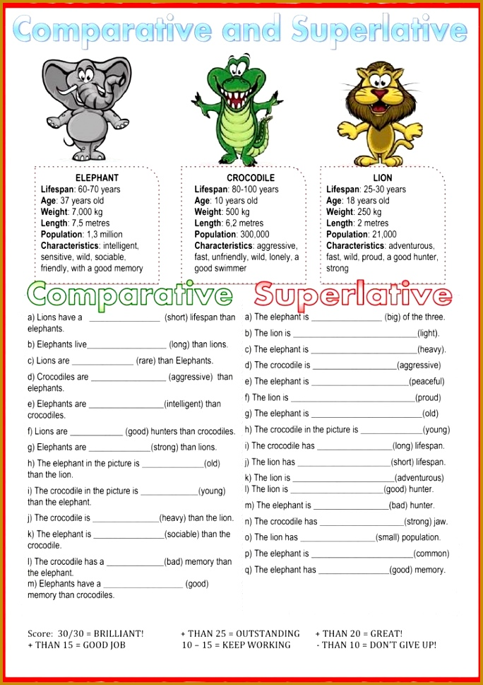 parative and superlative Interactive worksheet 969684