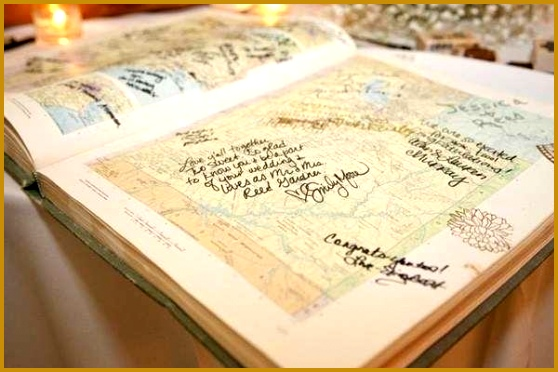 wedding guest book in road atlas 372558