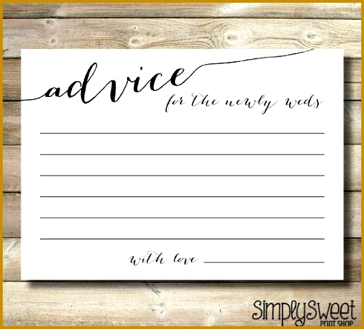 Wedding Advice Cards For The Newly Weds Bride and Groom Elegant Fancy Unique Wedding Advice 478530
