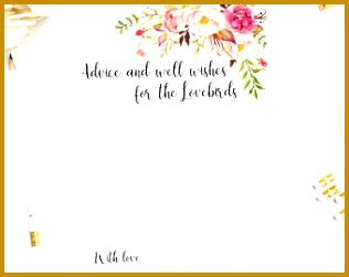 Advice and well wishes for the Lovebirds printable template Couple marriage advice card Instant PDF 316251