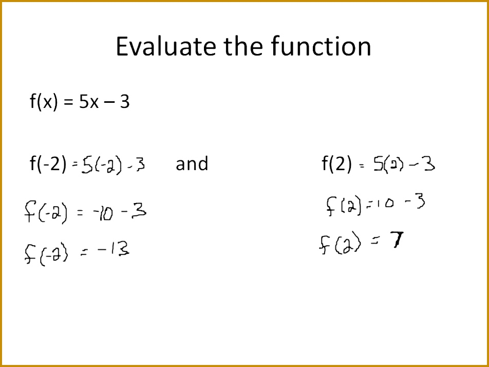 Linear Equations in Function Notation Simplifying Math 714952