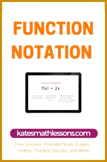 Function Notation 328218