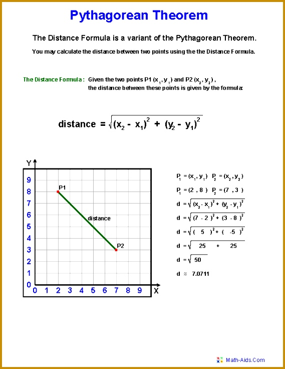 Pythagorean Theorem Definition Worksheets 736569
