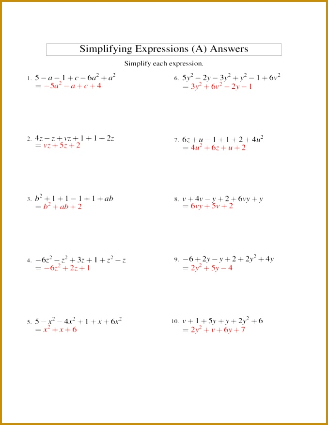 Adorable Algebraic Expression In Addition With Adding And Subtracting Algebraic Expressions Worksheet Free of Algebraic 876677