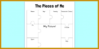 The Pieces of Me Activity Sheet 160320