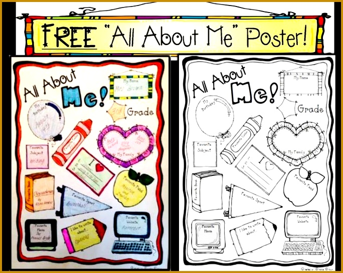 "FREE ""All About Me"" Poster for Back 684545"