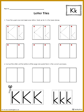 Letter K Tracing and Writing Letter Tiles 372279